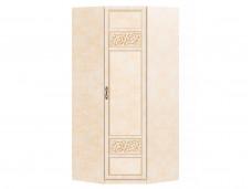 1-дверный угловой шкаф со штангой и с полками внутри - 625.061