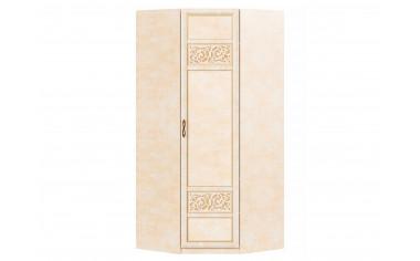 1-дверный угловой шкаф со штангой и полками - спальня Александрия