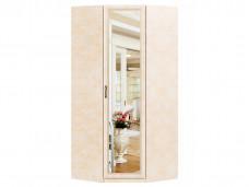1-дверный угловой шкаф с зеркалом со штангой и с полками внутри - 625.062М