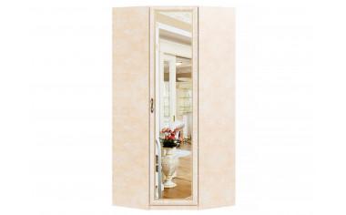 1-дверный угловой шкаф с зеркалом со штангой и полками - спальня Александрия