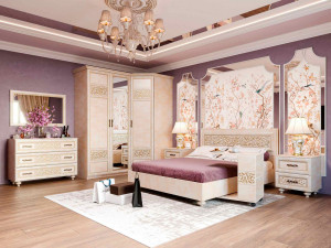 Кровать с прямоугольным изголовьем БЕЗ решетки, БЕЗ матраса, спальное место 160*200 - 625.010 М