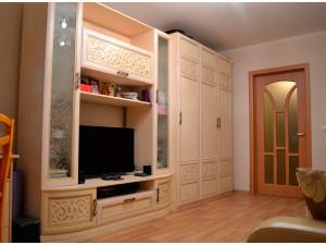 Трех-дверный шкаф со штангой и с полками внутри - 625.051-041