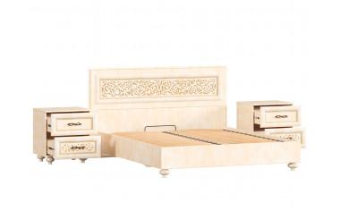 Кровать с прямоугольным резным изголовьем - 160*200 - спальня Александрия