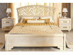 Кровать 140*200 с изогнутым резным изголовьем и без решетки - спальня Александрия