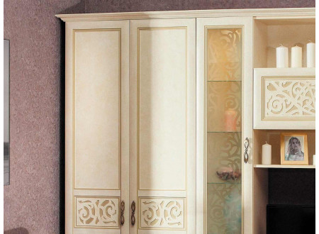 Двух-дверный шкаф со штангой - 618.050