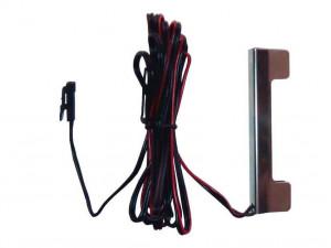 Клипса для стеклополки, цвет хром, 3 диода, с проводом 2 м и с коннектором - 191.070