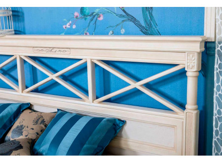 Кровать со спальным местом 160*200, без матраса с подъемным механизмом, со спинкой ППУ - ЛД 642.444