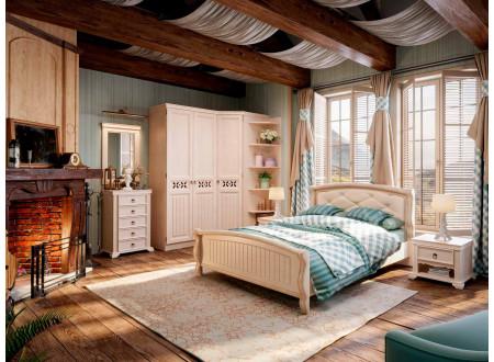 Кровать со спальным местом 180*200, без матраса и без ортопеда, с мягким изголовьем - ЛД 642.410