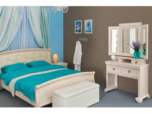 Туалетный стол двух-уровневый, с 4-мя ящиками и с тройным ЗЕРКАЛОМ - ЛД 642.350-360