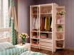 Двух-дверный шкаф с 2-мя штангами - ЛД 642.240 - фабрика мебели Любимый дом