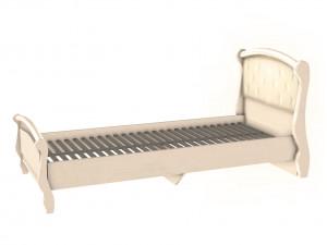 Кровать со спальным местом 90*200, без матраса и с мягким изголовьем - ЛД 642.460