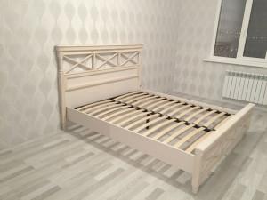 Кровать со спальным местом 160*200, без матраса и без ортопеда, со спинкой ППУ - ЛД 642.780