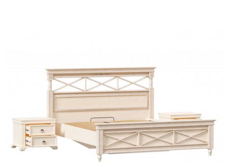 Кровать со спальным местом 160*200, без матраса с ортопедом, со спинкой ППУ - ЛД 642.781