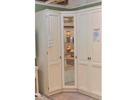 1-дверный зеркальный шкаф с 2-мя штангами в комплекте - ЛД 642.253.L (петли двери СЛЕВА)
