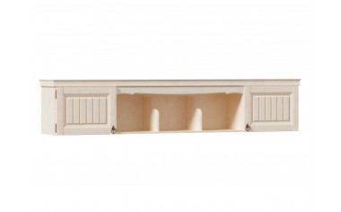 Полка широкая настенная межблочная с 2-мя дверками - ЛД 642.490 - фабрика мебели Любимый дом