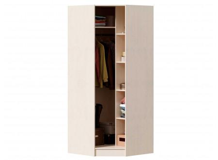 Угловой однодверный шкаф под 45 градусов, с полками и штангой - ЛД 642.230.L - (петли двери СЛЕВА)