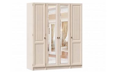 Четырех-дверный шкаф с зеркалами - ЛД 642.242.250.250 - фабрика мебели Любимый дом