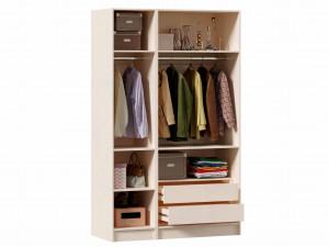 3-х дверный шкаф (комплект из 1дв. шкафа СЛЕВА и 2х дв. шкафа СПРАВА) - ЛД 642.250.240