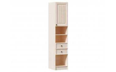 Одно-дверный шкаф-пенал с 2-мя ящиками и полками в комплекте - ЛД 642.560.R - фабрика мебели Любимый дом