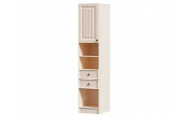 Одно-дверный шкаф-пенал с 2-мя ящиками и полками в комплекте - ЛД 642.560.L - фабрика мебели Любимый дом