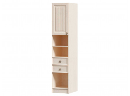 1-дверный шкаф-пенал с полками и с 2-мя ящиками - ЛД 642.560.L (петли двери СЛЕВА)
