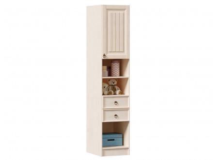 1-дверный шкаф-пенал с полками и с 2-мя ящиками - ЛД 642.560.R (петли двери СПРАВА)