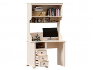 Стол письменный с одной тумбой СЛЕВА, с 3-мя ящиками и с надстройкой - ЛД 642.520.L-480