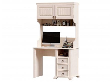 Стол письменный с одной тумбой СПРАВА, с 3-мя ящиками и с надстройкой - ЛД 642.520.R-480