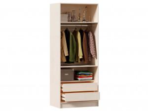 2-х дверный шкаф, с 2-мя зеркалами и 2-мя штангами внутри и без полок - ЛД 642.242