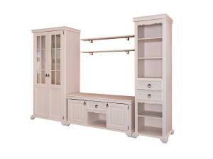 2-х дверный шкаф с 2-мя зеркалами и со ШТАНГОЙ для одежды, без полок - ЛД 642.305
