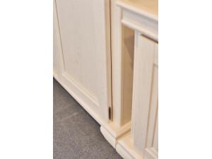 1-дверный зеркальный шкаф, с 4-мя ПОЛКАМИ - ЛД 642.047.L (петли двери СЛЕВА)