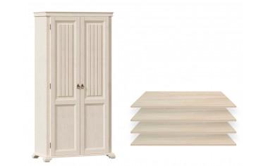 Двух-дверный шкаф с 4-мя полками - ЛД 642.011 - фабрика мебели Любимый дом