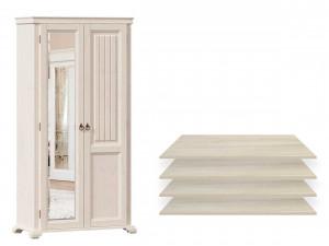 2-х дверный шкаф с одним зеркалом СЛЕВА и с 4-мя ПОЛКАМИ из лдсп - ЛД 642.012.L