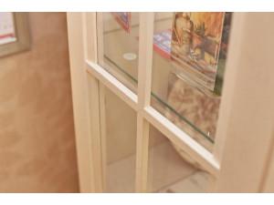 2-х дверный шкаф витрина с 2-мя ПОЛКАМИ из ЛДСП и 2-мя полками из СТЕКЛА - ЛД 642.014