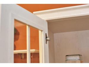 2-х дверный шкаф со стеклянными дверками и с 4-мя ПОЛКАМИ из лдсп - ЛД 642.013