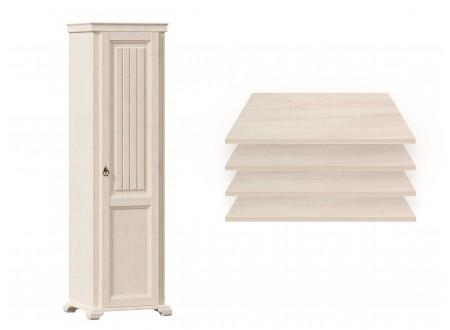 1-дверный шкаф, с 4-мя ПОЛКАМИ - ЛД 642.042 (петли двери СПРАВА)