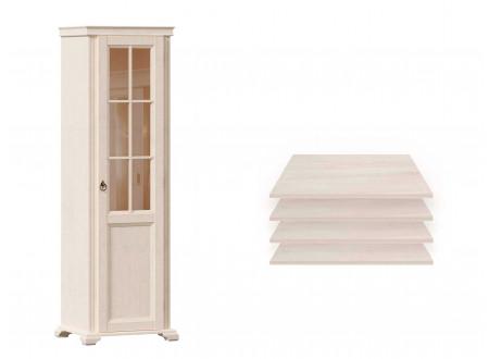 1-дверный шкаф, дверь СТЕКЛО, с 4-мя полками - ЛД 642.044 (петли двери СПРАВА)