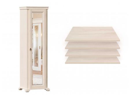 1-дверный зеркальный шкаф, с 4-мя ПОЛКАМИ - ЛД 642.047.R (петли двери СПРАВА)