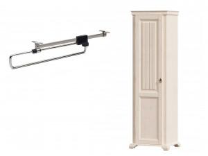 1-дверный шкаф, со ШТАНГОЙ для одежды и без полок - ЛД 642.301 (петли двери СЛЕВА)