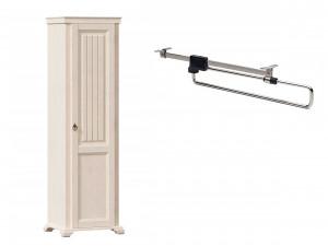 1-дверный шкаф, со ШТАНГОЙ для одежды и без полок - ЛД 642.302 (петли двери СПРАВА)