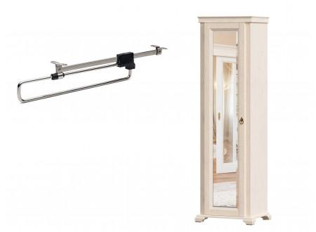1-дверный зеркальный шкаф, со ШТАНГОЙ для одежды - ЛД 642.303.L (петли двери СЛЕВА)