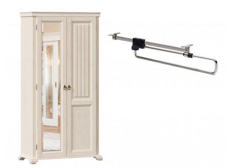 2-х дверный шкаф с одним зеркалом СЛЕВА и со ШТАНГОЙ для одежды внутри, без полок - ЛД 642.305.L
