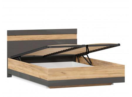 Кровать со сп. местом 140*200, с подъёмной  решеткой и без матраса - (659.075.А)