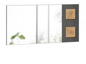 Зеркало настенное шириной 1190 мм с декоративными накладками - (659.420.LA)