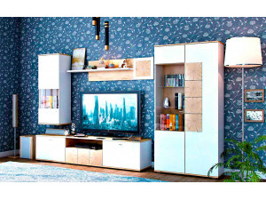 Шкаф настенный 1-дверный со стеклом - петли СПРАВА - (659.120.RW)