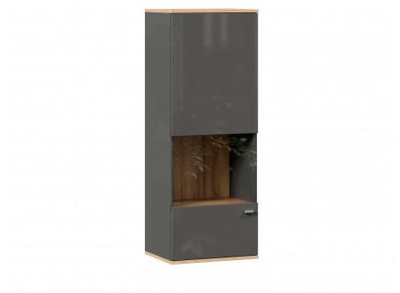 Шкаф настенный 1-дверный со стеклом - петли СЛЕВА - (659.020.L)