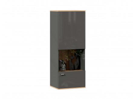 Шкаф настенный 1-дверный со стеклом - петли СПРАВА - (659.120.R)