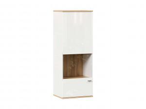 Шкаф настенный 1-дверный со стеклом - петли СЛЕВА - (659.020.LW)
