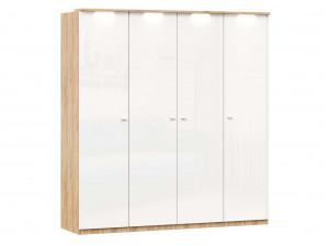 Шкаф 4х-дверный с полками по бокам со штангой в центре - (659.224.236.224)