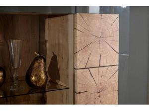 Шкаф 2х-дверный шириной 920 мм. с полками СПРАВА и с витриной СЛЕВА - (659.010.А)